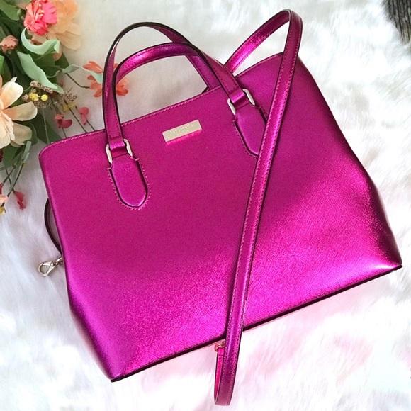 kate spade Handbags - Kate Spade Laurel Way Evangelie Pink Satchel Bag